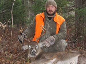 Dave's brother Robert with his opening morning 8 pt.