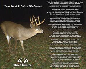 Twas the night before hunting season