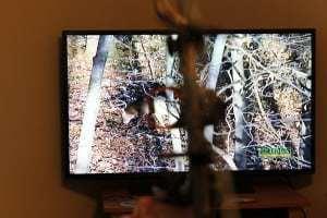 Aiming at a TV