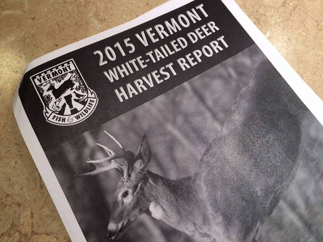 2015 Vermont Deer Harvest Report