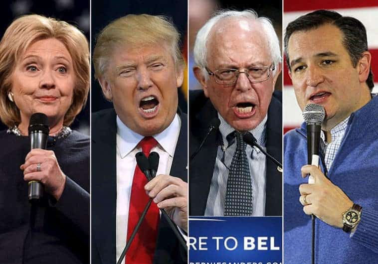 Clinton, Trump, Sanders And Cruz. (photo Credit:REUTERS)