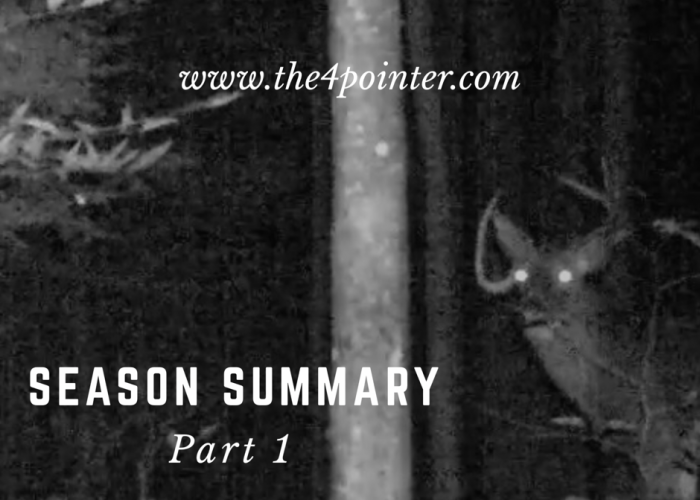 2016 Hunting Season Summary – Part 1