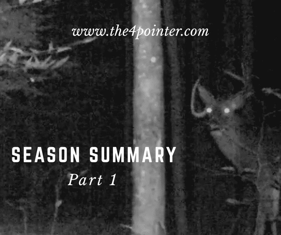2016 Hunting Season Summary - Part 1 2