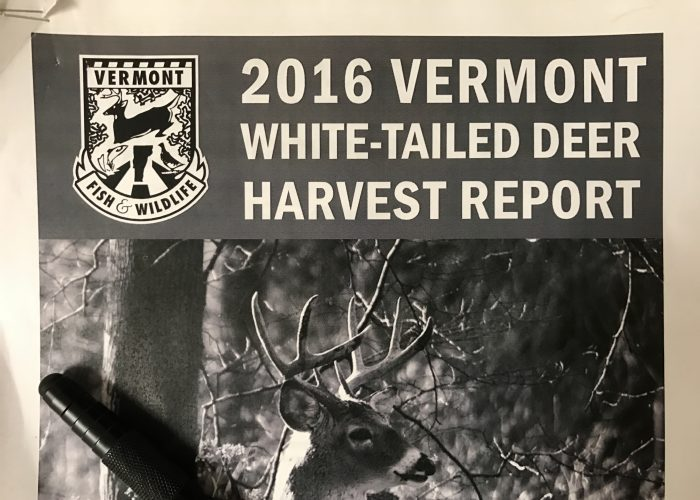 2016 Vermont White-Tailed Deer Harvest Report – 6 Observations