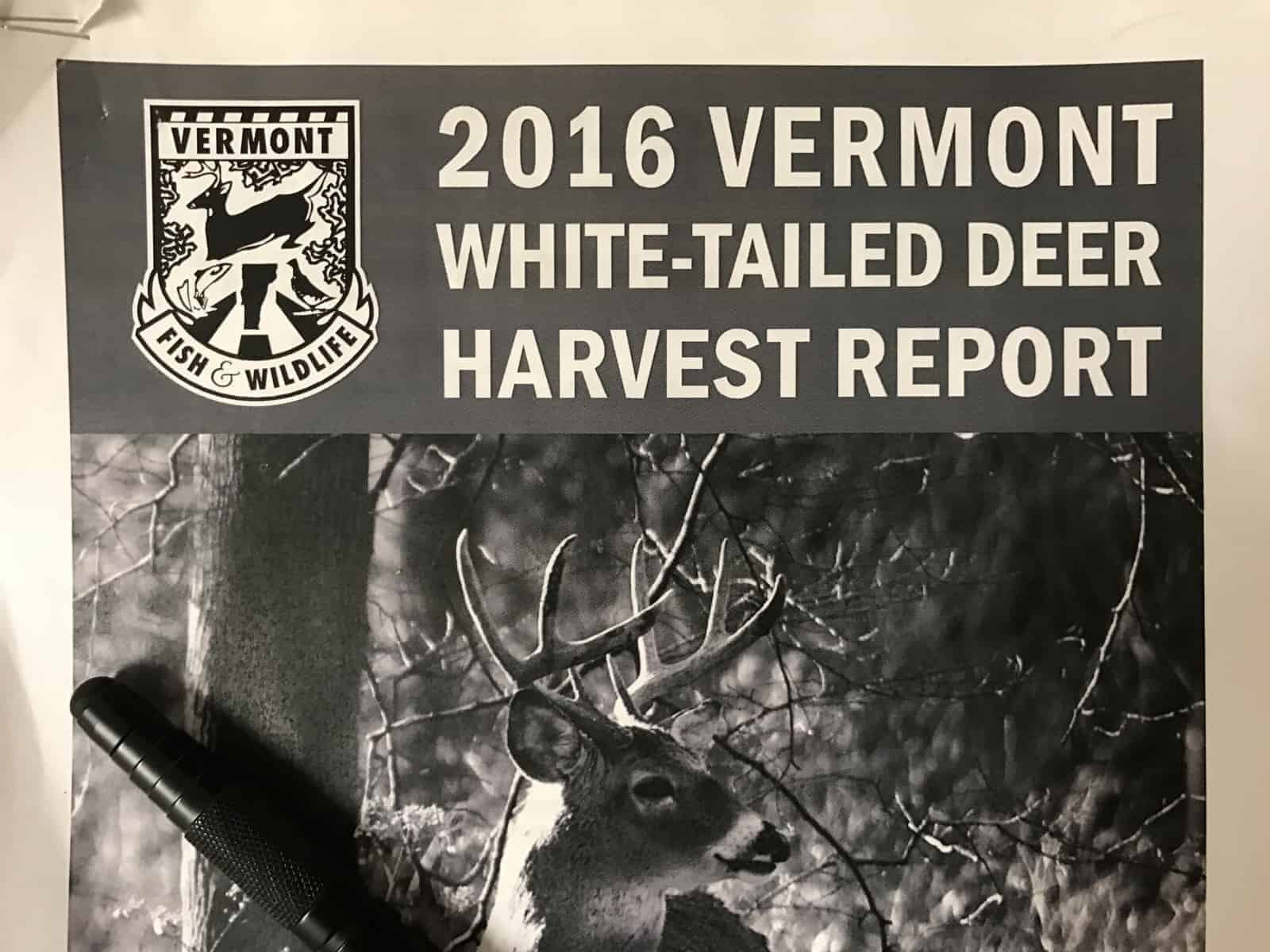 2016 VT Deer Harvest Report