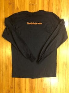 The 4 Pointer, Long Sleeve Back, Hunting, Deer Hunting, Vermont, New Hampshire