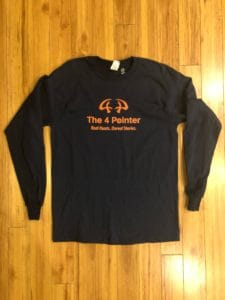 The 4 Pointer, Long Sleeve Front T Shirt, Hunting, Deer Hunting, Vermont, New Hampshire.